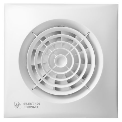 Silent 100CRZ. Bathroom Extractor Fan. High efficiency, long life bathroom fan. For wall mounting.